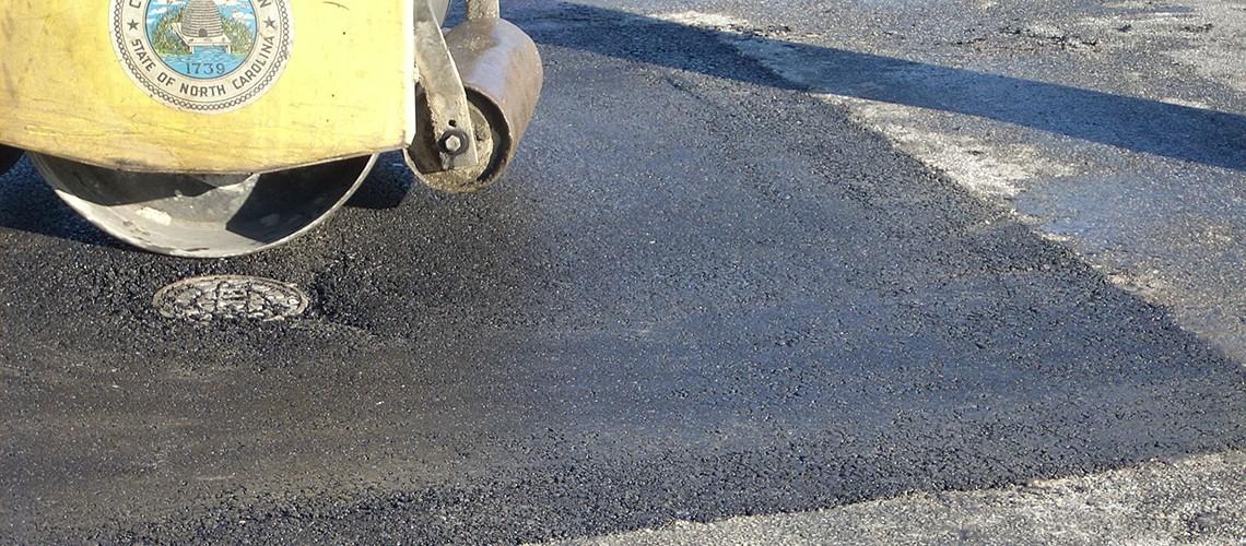Asphalt Repairs Around Manholes Water Valves Drains And